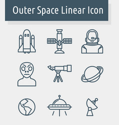 Outer space icon vector