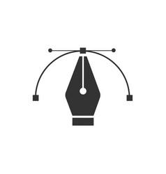 pen tool cursor computer graphics logo vector image