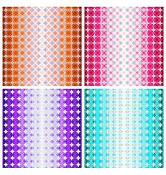 Set four colorful geometric patterns vector