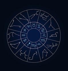 set zodiac sign set zodiac sign vector image