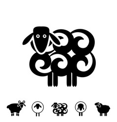 Sheep or ram icon or logo vector