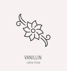 simple logo template vanillin vector image