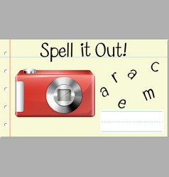 Spell it out camera vector