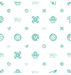 Sphere icons pattern seamless white background vector