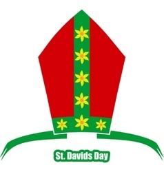 St Davids Day greeting card template vector
