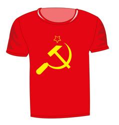 T-shirt with symbol communism vector