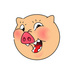the head a pig logo symbol for company vector image