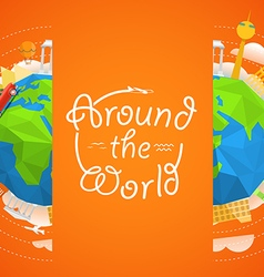 Travel around the world concept travel boo vector