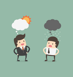 two businessman in different emotions vector image