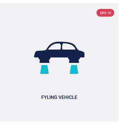 Two color fyling vehicle icon from artificial vector