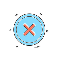 user interface button icon design vector image