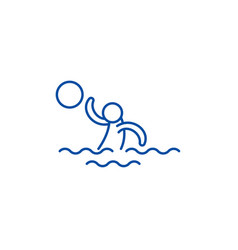 water volleyball line icon concept water vector image