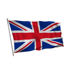 waving in wind flag great britain on pole vector image