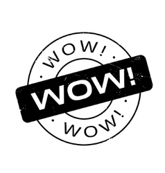 Wow rubber stamp vector