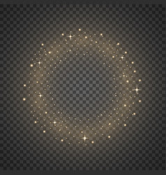 circle of glitter particles golden color vector image vector image