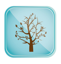 Color square frame and blue background with fall vector