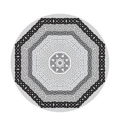 Round ornamental shape celtic patterns vector image vector image