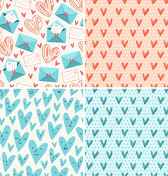 Valentines patterns vector image