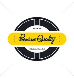 vintage quality badge theme vector image