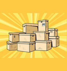 Cardboard boxes for packaging vector