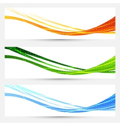 Collection of bright cards for web and print vector image