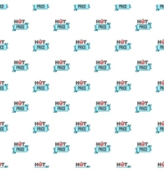 Label hot price pattern cartoon style vector image vector image