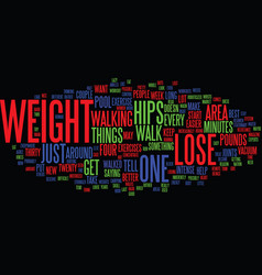 Lose weight in your hips only not text background vector