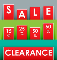 Sale advertisement vector image vector image