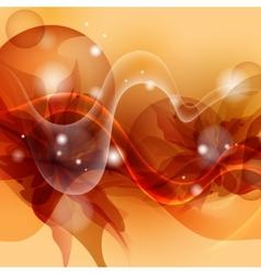Stylized Orange Flower Background vector image vector image
