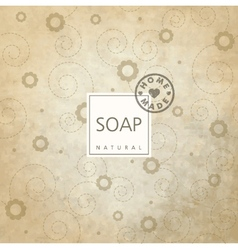 Background for natural handmade soap vector image vector image