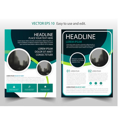 green brochure annual report flyer design vector image vector image