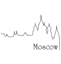 moscow city one line drawing background vector image