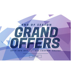 abstract sale banner poster design for grand sale vector image