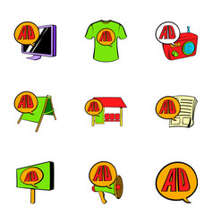 ali express icons set cartoon style vector image vector image