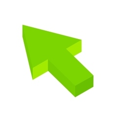 Arrow click isometric 3d icon vector image