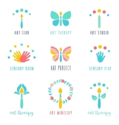 Art Class Studio and Projects Icons Art Therapy vector image vector image