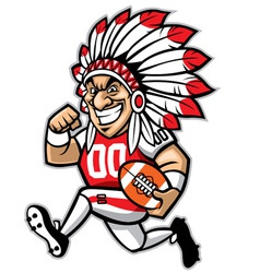 chief american football mascot vector image vector image