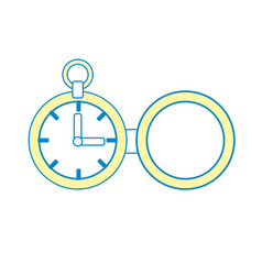 clock of pocket to know the time vector image