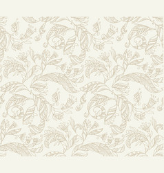 decorative angels feathers seamless pattern vector image