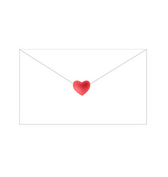 envelope closed by heart symbol sticker vector image vector image