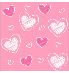 hearts valentine vector image vector image