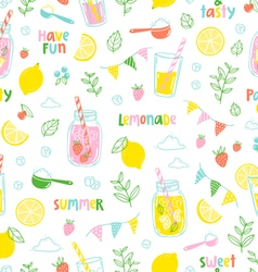 Lemonade party pattern vector image vector image