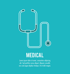 stethoscope medical health care vector image
