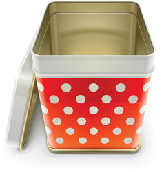 tin box with lid vector image vector image