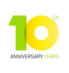 10 anniversary years logo vector image