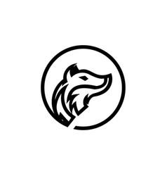 a fox animal logo template vector image