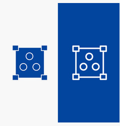 abstract design online line and glyph solid icon vector image
