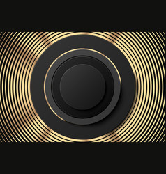 abstract golden black poster or banner golden vector image