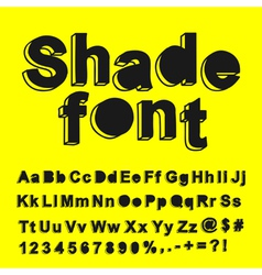 Abstract shade font vector