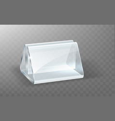 acrylic holder glass or plastic display stand vector image